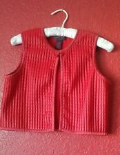 Polo Ralph Lauren Women's Quilted Crop Asian Inspired Red Top Vest M chinese