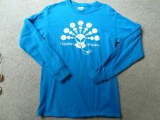 JZ KNIGHT RSE RAMTHA CROP CIRCLE CARTOUCHE BLUE SHIRT SZ. S