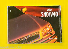 S40 S 40 V40 V 40 Sedan 02 2002 Volvo Owners Owner's Manual All Models