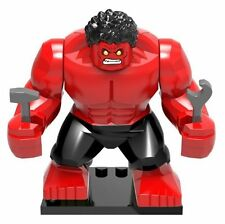 Marvel Red Hulk Minifigure Custom Mini Figure Fits Lego