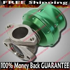 Universal 35/ 38MM Adj.Wastegate 2-Bolt Mazda Toyota Scion Dodge Acura BMW GREEN
