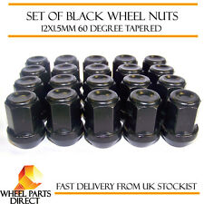 Alloy Wheel Nuts Black (20) 12x1.5 Bolts for Kia Sorento [Mk1] 03-10