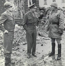 6x4 Gloss Photo ww4F71 World War 2 Pictures Eisenhower Bradley Patton