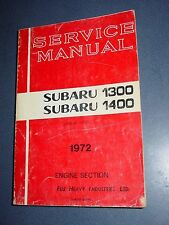 1972 Subaru 1300 1400 Service Repair Manual - Engine Transmission