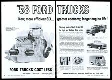 1958 Ford F100 pickup F-500 stakebed parcel delivery van trade print ad