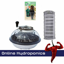 "HYDROPONICS 16"" BOWL BUD TRIMMER PLUS JUMBO DRYING RACK AND TRIMMING SCISSORS"