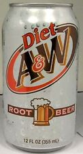 """FULL 12oz Can """"Taste of the 60's"""" A&W Diet Root Beer by Dr. Pepper 7up USA 2011"""