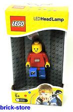 LEGO - LED Figure Head Lampada con clip / Corpo rosso / Pantaloni blu
