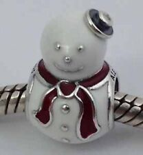 Authentic Pandora Argento Sterling s925 Ale Happy charm pupazzo di neve