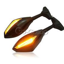 LED Mirrors Turn Signals Light Fit Kawasaki Ninja ZX 6R 7R 9R 10R 12R 250R Z750S