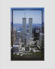 TWIN TOWERS, World Trade Center, WTC, METAL/STEEL SHAVINGS, New York, NYC, 8X10