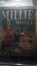 Millie The Model 3 1946 Timely Classic Good Girl Cover CGC 4.0 Qualified No CBCS