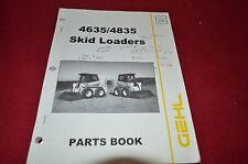 Gehl 4835 4635 Skid Steer Loader Dealer's Parts Book BVPA
