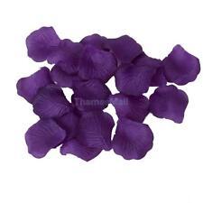 100pcs Violet Artificial Silk Rose Petals Wedding Flower Girl Basket Decoration