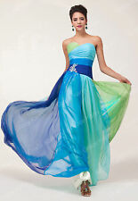 RAINBOW~Plus Size Long Bridesmaid Evening Prom Formal Wedding Gown Party Dresses