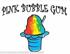 PINK BUBBLE GUM Snow CONE/SHAVED ICE Flavor GALLON CONCENTRATE #1 FLAVOR N WORLD