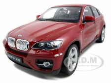 2011 2012 BMW X6 RED 1:18 DIECAST MODEL CAR BY WELLY 18031