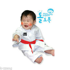 Mooto Dolbok 1st birthday Baby Uniform TaeKwonDo uniforms Kids dobok Tae Kwon Do