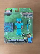 Minecraft Overworld Steve with Diamond Armor Figure sword block Series 2 - NEW