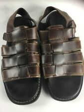 TIMBERLAND men's Fisherman Sandals Size 8 medium Brown Distressed Leather