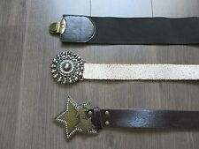 3 x Belts with Embellishments