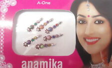 MULTI COLOR BINDI BODY TATTOO TEMPORARY BRIDAL PARTY BOLLYWOOD ASSORTED DESIGN