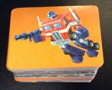 1985 TRANSFORMERS COMPLETE ACTION CARD SET 192/192 Plus 23 Stickers G1 !SHARP!