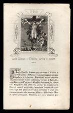 santino incisione 1800 S.LIBERATA O WILGEFORTE V.M.