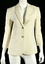 THE ROW $1,590 NWT Winter White Poly Techno LEFMAN Blazer Jacket 10