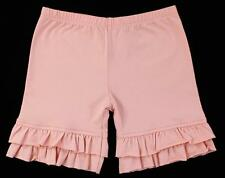 PERSNICKETY Girls Double Ruffle Shorts Shorties Vintage Rose Pink ~ Sz 5 NWOT tj