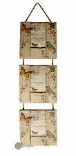Vintage shabby Chic Triple Wooden Photo Picture Frame Butterfly Design BG0020