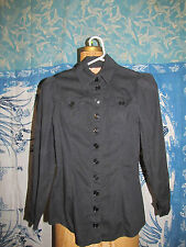 Vintage Betsey Johnson Alley cat black button up blouse