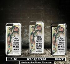 Alice in Wonderland Quote Disney We're All Made Here Hard Phone Case Cover X8