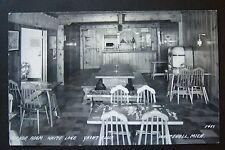 Anchor Room WHITE LAKE YACHT CLUB, Whitehall, Michigan, RPPC vintage postcard