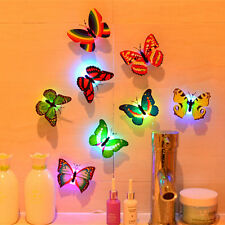 10pcs 3D Butterfly LED Wall Stickers Lights DIY Family Art Home Decoration Kids
