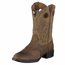 ARIAT CHILDRENS HERITAGE STOCKMAN COWBOY WESTERN BOOTS! 10001798