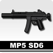 MP5 SD6 (W157) Machine Gun compatible with toy brick minifigures