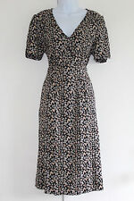 New LABEL BE FOR SIMPLY BE New Tea Dress UK 12 EU 40 Black Ditsy BNWT
