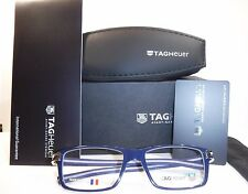 Brand New Tag Heuer Eyeglasses TH 7603 Track S Acetate 003 Smart Blue/Light Grey