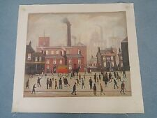 """Coming Home From Mill"" Oil on Canvas Painting  In the Style of L S Lowry"