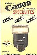 CANON SPEEDLITES 420 430 540 EZ HOVE FOTO BOOKS RABY 1995