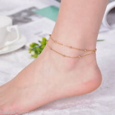 Barefoot Home  Sandals Gold Foot Beach Wedding Dancing Ankle Chain Bracelet