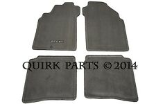 2000-2003 Nissan Maxima Frost Gray Carpeted Floor Mats Front & Rear Set OEM NEW