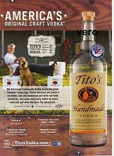 TITO'S VODKA 2014 print ad art advert magazine photo clipping TITOS Made in USA