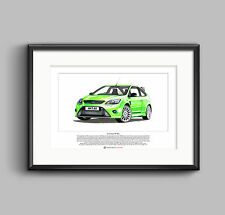 Ford Focus RS Mk2 Limited Edition Fine Art Print A3 size