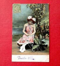 CPA. FANTAISIE. 1901. Fillette. Carquois. Fléche.