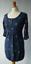 Ladies Mantaray Navy Blue Knitted Tunic Top /  Dress Size Uk 10