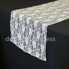 New Vintage White Rustic Wedding Lace Party Table Runner Chair Sash Decoration