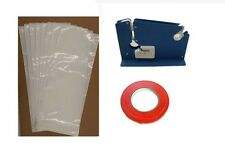 GROUND MEAT PACKING KIT- TAPE MACHINE, TAPE, 200 1LB WHITE UN-PRINTED BAGS