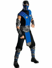 Mens 1990s Mortal Kombat Sub Zero Game Ninja Samurai Fancy Dress Costume